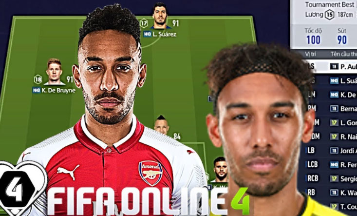aubameyang fifa online 4
